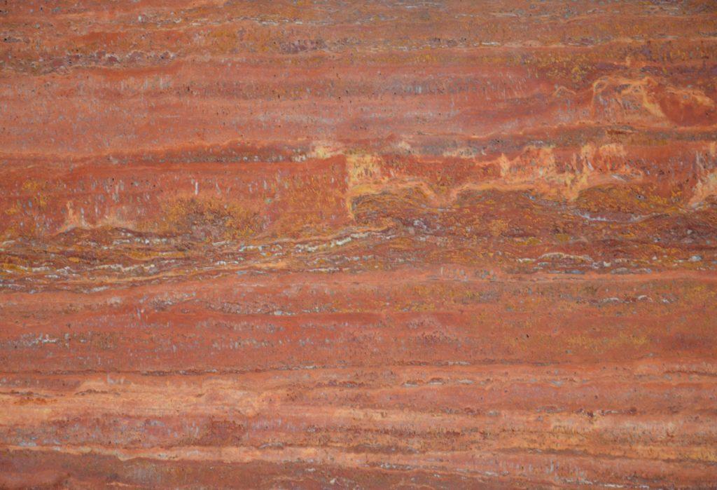 Red Travertine Vein Cut