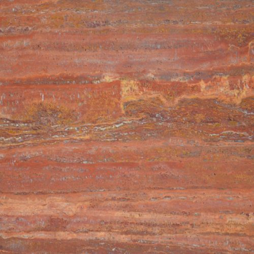 Red Travertine Vein Cut