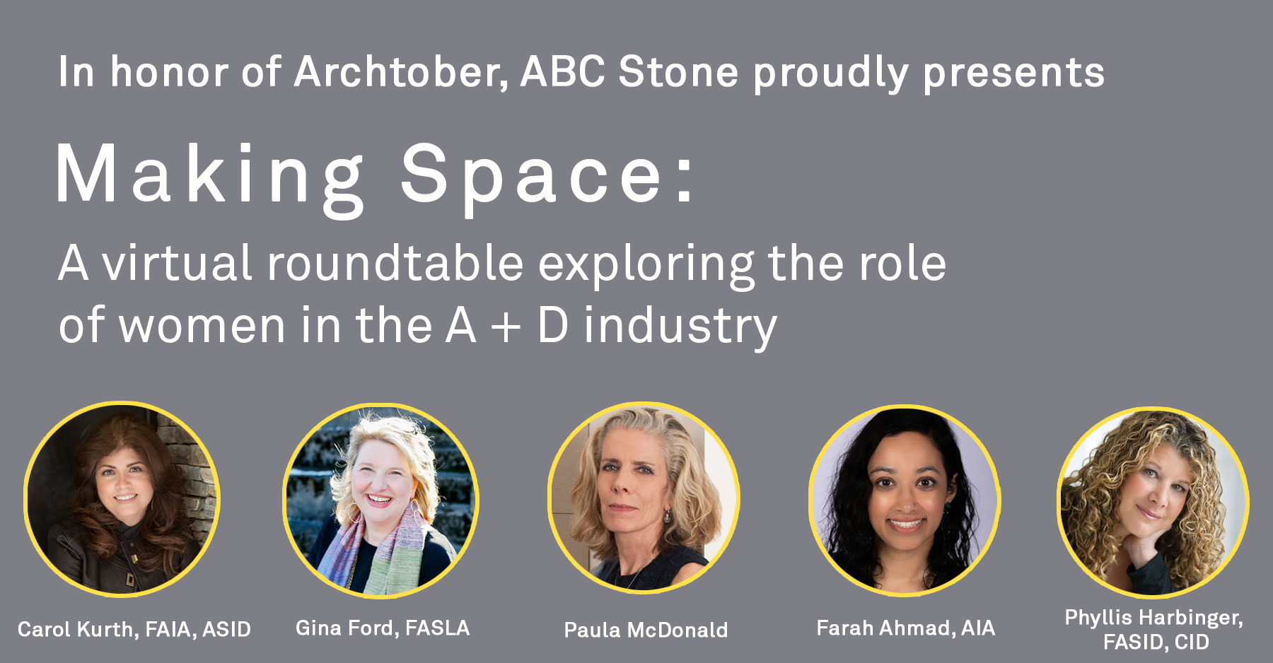 Making Space: A virtual roundtable exploring the role of women in the A+D industry