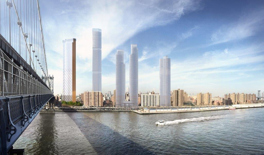Revised plans for Perkins Eastman's Two Bridges tower