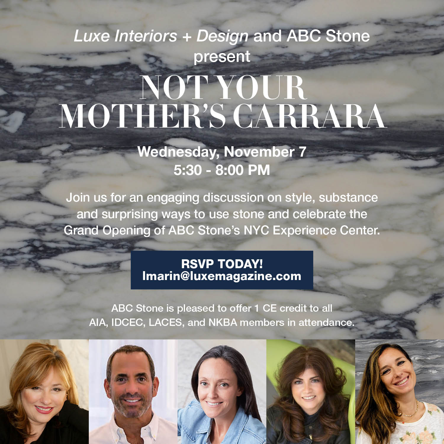 """ABC Stone presents """"Not Your Mother's Carrara"""" in our new Manhattan Showroom"""