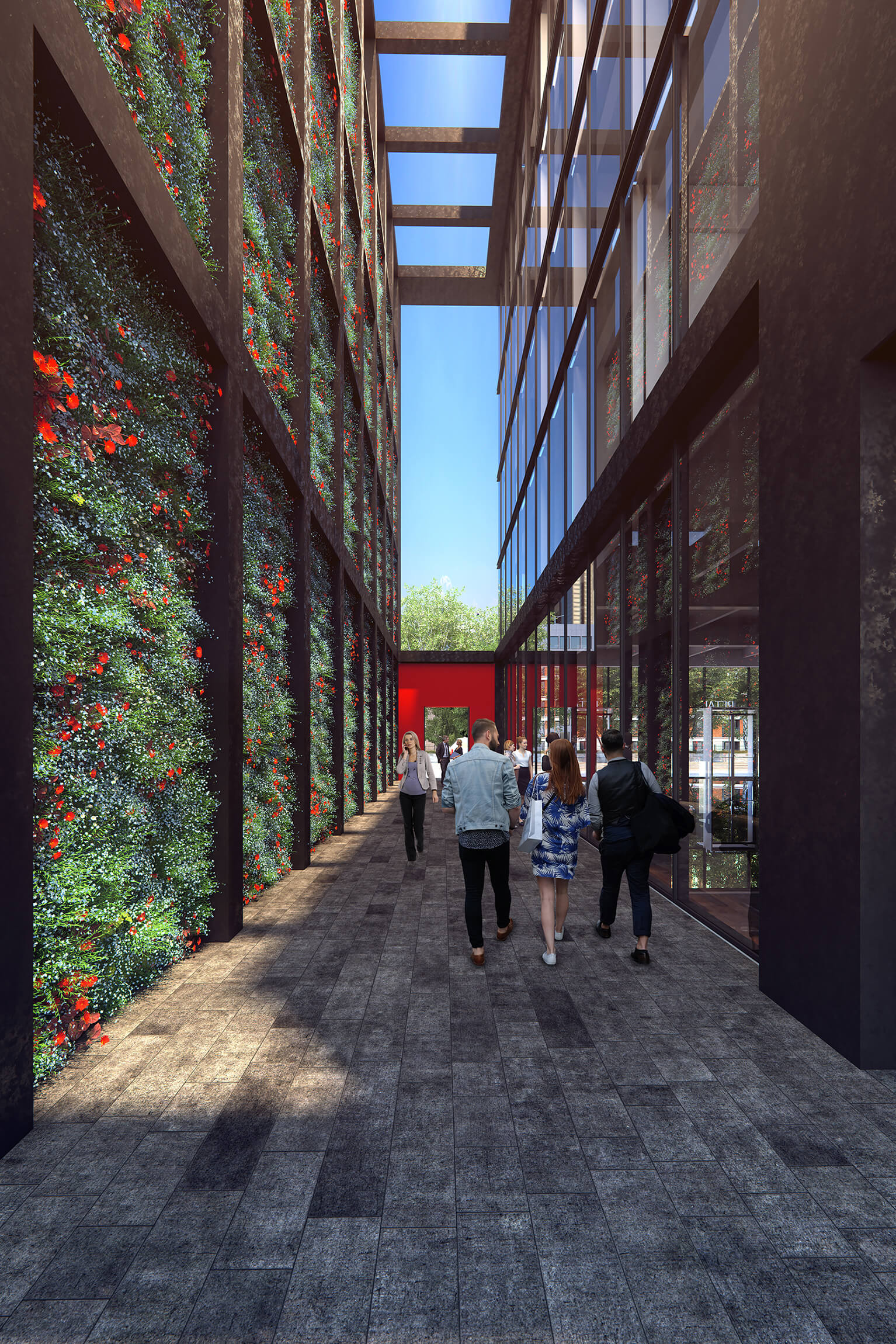 "Roger Ferris + Partners' ""Houston Alleyway"" and 141 East Houston, at the site of the old Sunshine Cinema"