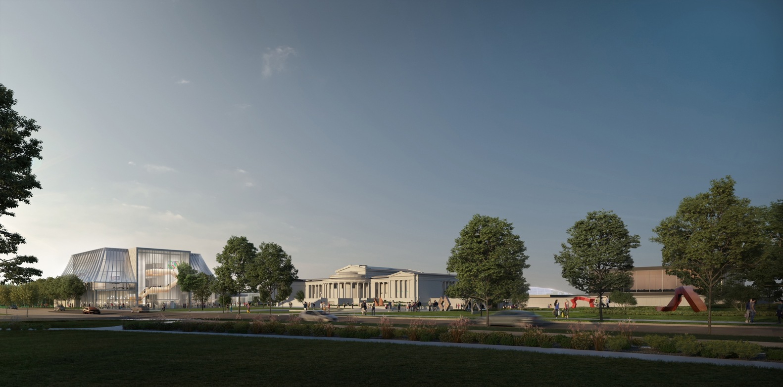 New renderings for OMA's Albright-Knox Art Gallery Expansion
