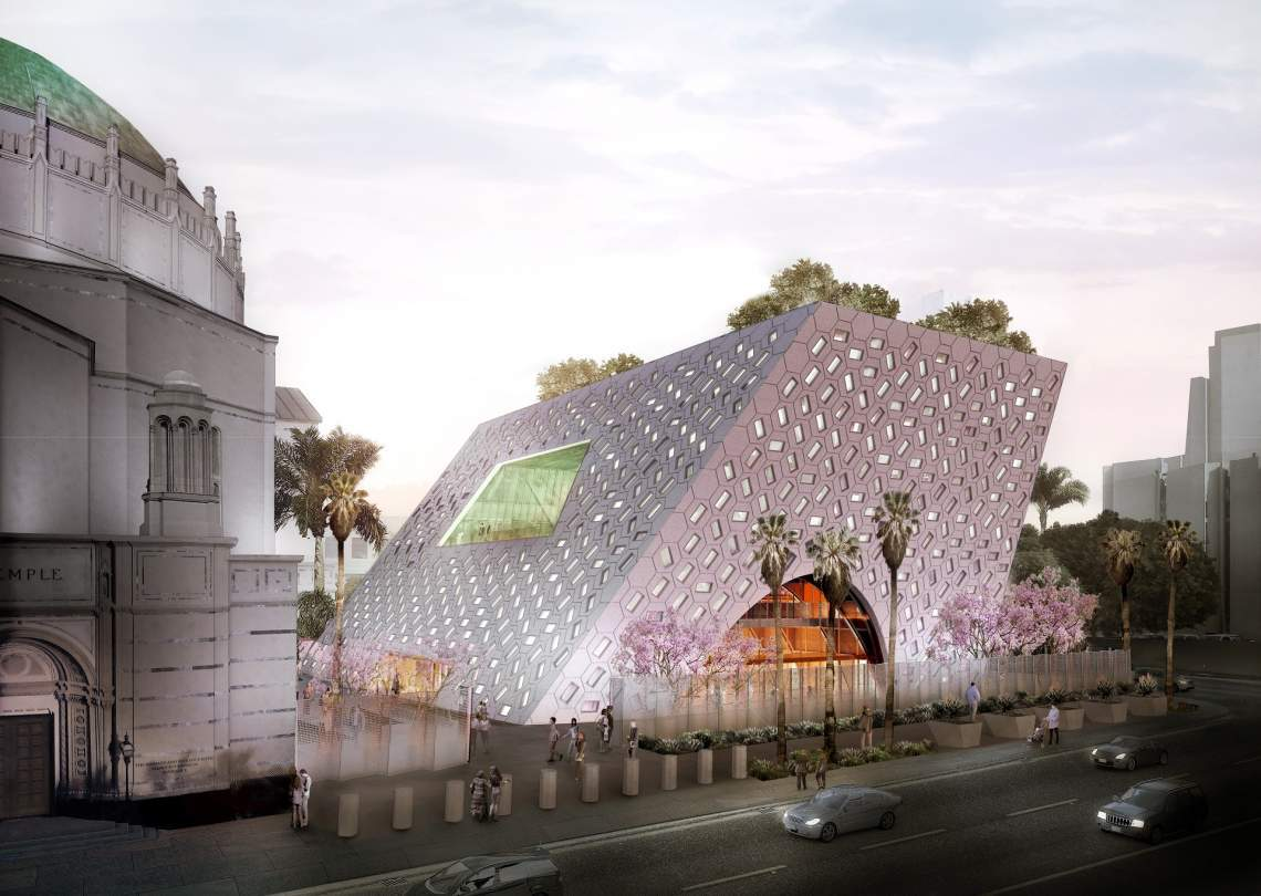 OMA Breaks Ground Soon on their expansion of the Wilshire Boulevard Temple