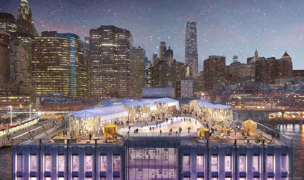 With the help of Rockwell Group, Rooftop of South Street Seaport's Pier 17 to become a winter village