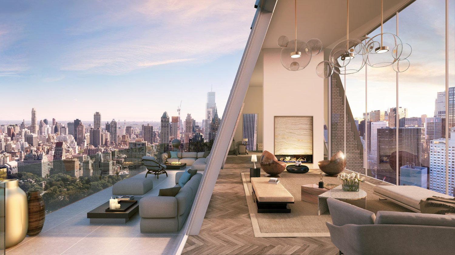 SPAN Architecture's conversion of Central Park South roof topper into triplex penthouse
